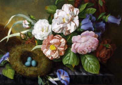 Still Life of Camelias by Woodleigh Marx Hubbard