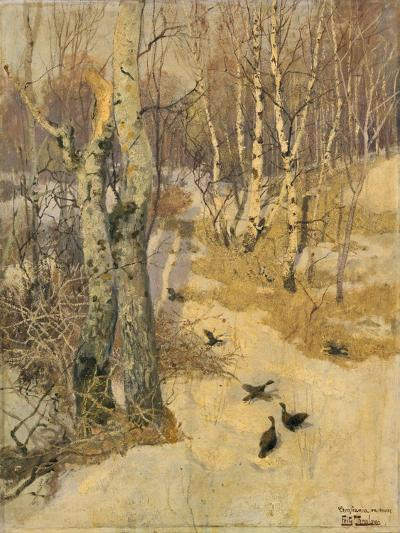 Woods Covered with Snow, 19th Century-Frits Thaulow-Giclee Print