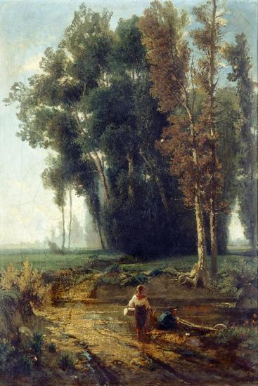 Woods with Water and Scrubs-Giovanni Corvini-Giclee Print