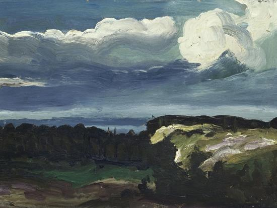 Woodstock Landscape-George Wesley Bellows-Giclee Print