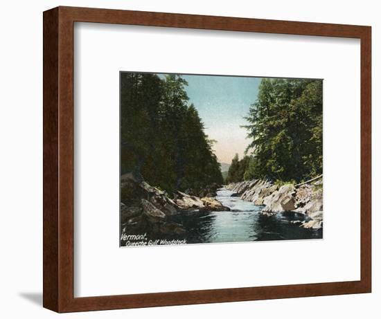 Woodstock, Vermont, View of Queeche Gulf-Lantern Press-Framed Art Print
