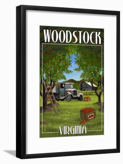Woodstock, Virginia - Apple Harvest-Lantern Press-Framed Art Print