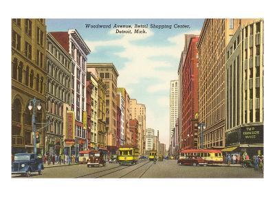 Woodward Avenue, Detroit, Michigan--Art Print