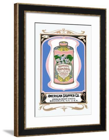 Woodworth's Trailing Arbutus Talcum Powder--Framed Art Print
