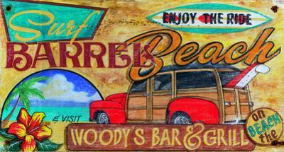 Woody Surfing Vintage