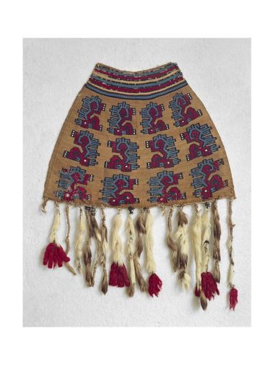 Wool Bag with Zoomorphic Motifs from Nazca--Giclee Print