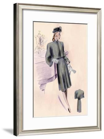 Wool Bolero Suit--Framed Art Print