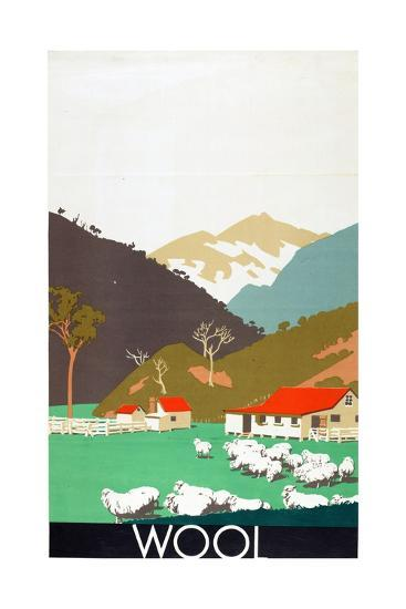Wool, from the Series 'Buy New Zealand Produce'-Frank Newbould-Giclee Print