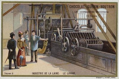 Wool Industry, Washing--Giclee Print