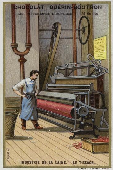 Wool Industry, Weaving--Giclee Print