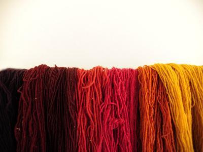 Wool Yarn for Traditional Weaving-Raul Touzon-Photographic Print