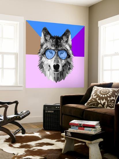Woolf in Blue Glasses-Lisa Kroll-Wall Mural