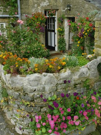 Detail of Cottage and Garden, Yorkshire, England, United Kingdom, Europe