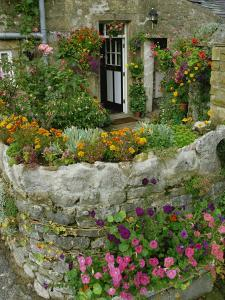 Detail of Cottage and Garden, Yorkshire, England, United Kingdom, Europe by Woolfitt Adam