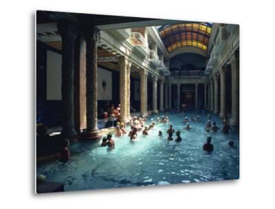 People Bathing in the Hotel Gellert Baths, Budapest, Hungary, Europe