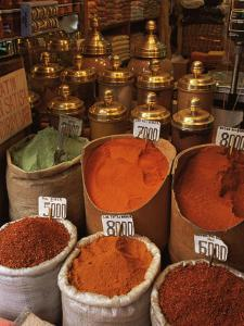 Spices in the Market, Istanbul, Turkey, Europe by Woolfitt Adam