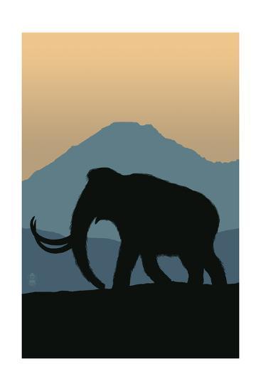 Woolly Mammoth-Lantern Press-Art Print