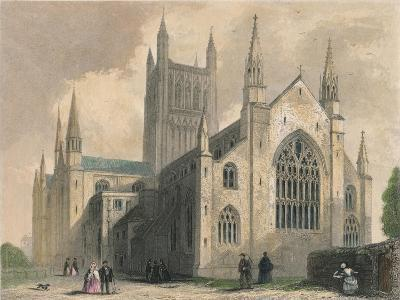 Worcester Cathedral, North West View, 1836-Henry Winkles-Giclee Print