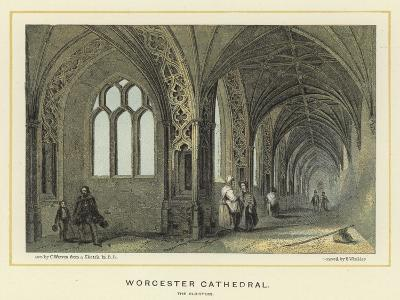 Worcester Cathedral, the Cloisters--Giclee Print