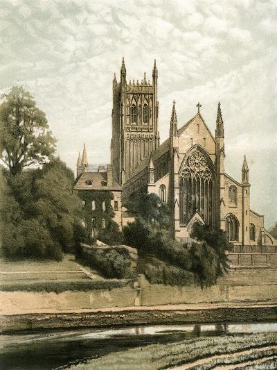 Worcester Cathedral, Worcestershire, C1870- Hanhart-Giclee Print