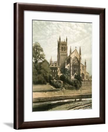 Worcester Cathedral, Worcestershire, C1870- Hanhart-Framed Giclee Print