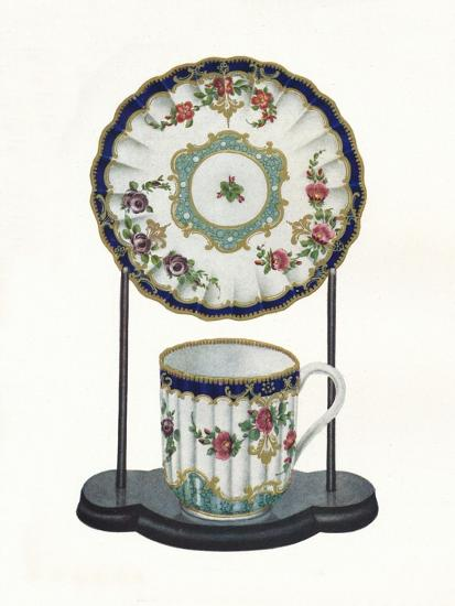 Worcester cup and saucer, c1770-Unknown-Giclee Print