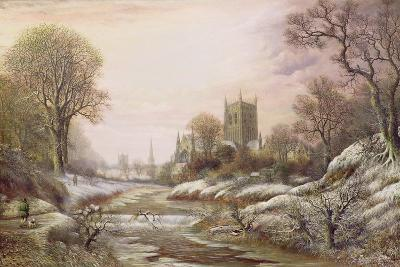 Worcester from the South West in the Snow, C.1875-Charles Leaver-Giclee Print