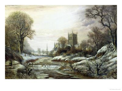 Worcester from the South West-Charles Leaver-Giclee Print