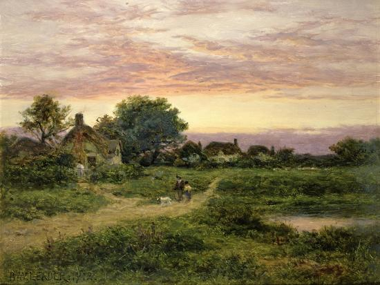 Worcestershire Cottages, 1912-Benjamin William Leader-Giclee Print