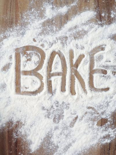 Word Bake in Flour-Neil Overy-Photographic Print