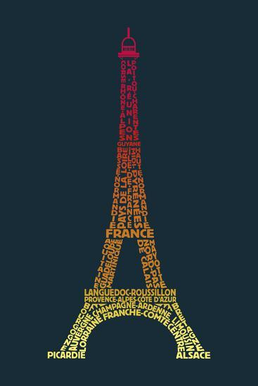 Word Play France-Tom Frazier-Giclee Print