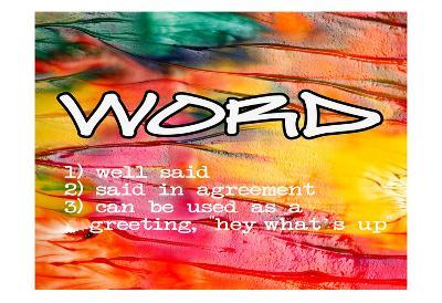 Word-Taylor Greene-Art Print