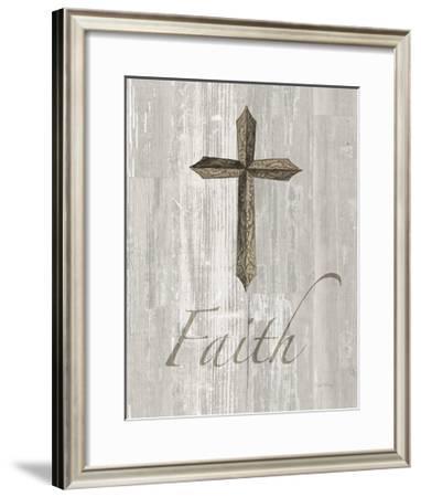 Words for Worship Faith on Wood-Elyse DeNeige-Framed Art Print