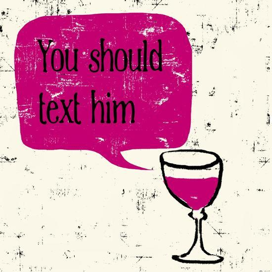 Words of Wine 9-Lola Bryant-Art Print