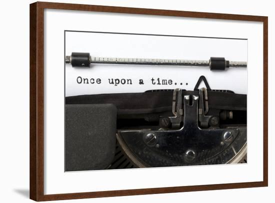 "Words ""Once Upon A Time"" Written With Old Typewriter-foodbytes-Framed Art Print"
