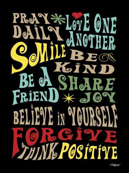 Words to Live by II-Todd Williams-Art Print