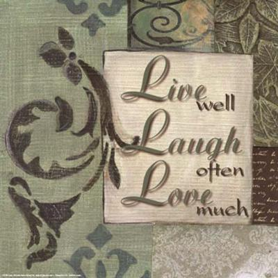 Words to Live By, Live Laugh Love-Smith-Haynes-Art Print