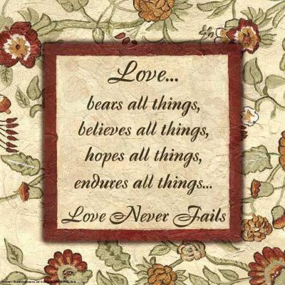 Words to Live By: Love-Debbie DeWitt-Art Print