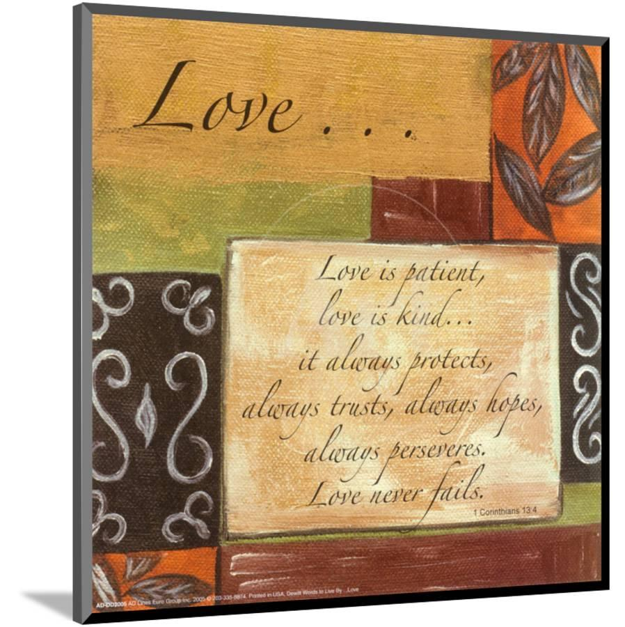 Words to Live By: Love Mounted Print by Debbie DeWitt | Art.com