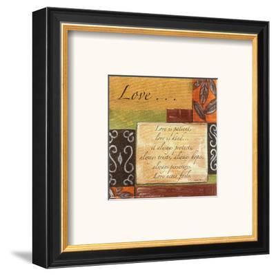 Words to Live By: Love-Debbie DeWitt-Framed Art Print