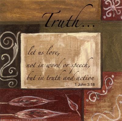 Words to Live By: Truth-Debbie DeWitt-Art Print