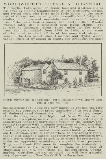 Wordsworth's Cottage at Grasmere--Giclee Print
