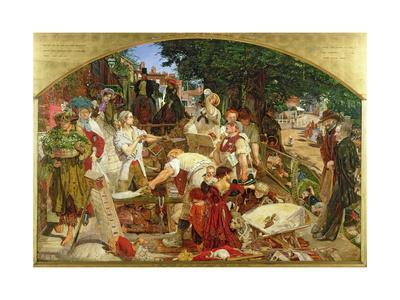 Jesus Washing Peter's Feet     by Ford Maddox Brown   Giclee Canvas Print Repro
