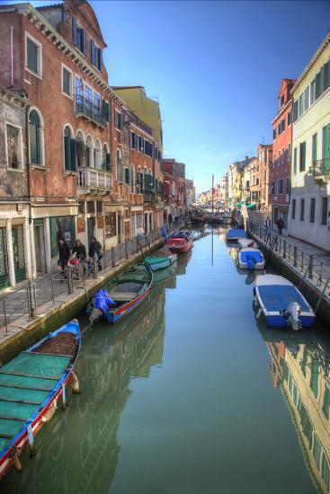 Work Boats Along Canals of Venice, Italy-Darrell Gulin-Photographic Print