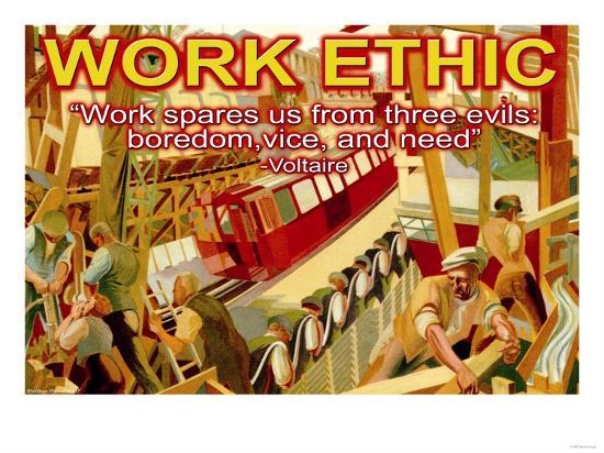 Work Ethic--Art Print