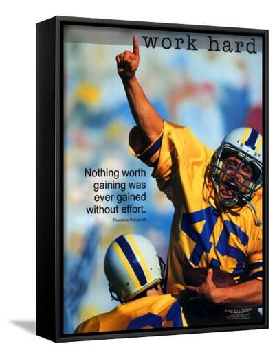 Work Hard--Framed Canvas Print