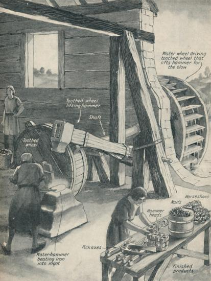 'Work in an Iron Foundry and Smithy During The Period of the Middle Ages', c1934-Unknown-Giclee Print