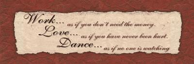 Work, Love, Dance-Smith Haynes-Art Print