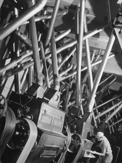 Worker Checking Quality Control at Flour Mill-Margaret Bourke-White-Photographic Print