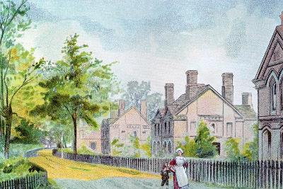 Workers' Cottages at Bournville, Birmingham, 1892--Giclee Print